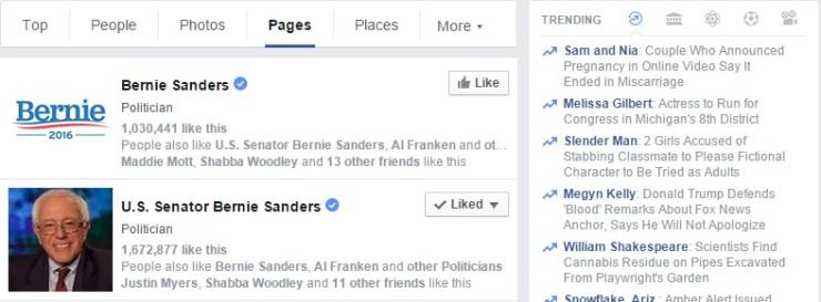 Bernie Sanders 2016 Facebook