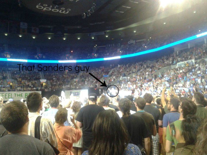 Bernie Sanders Portland rally - that Sanders guy