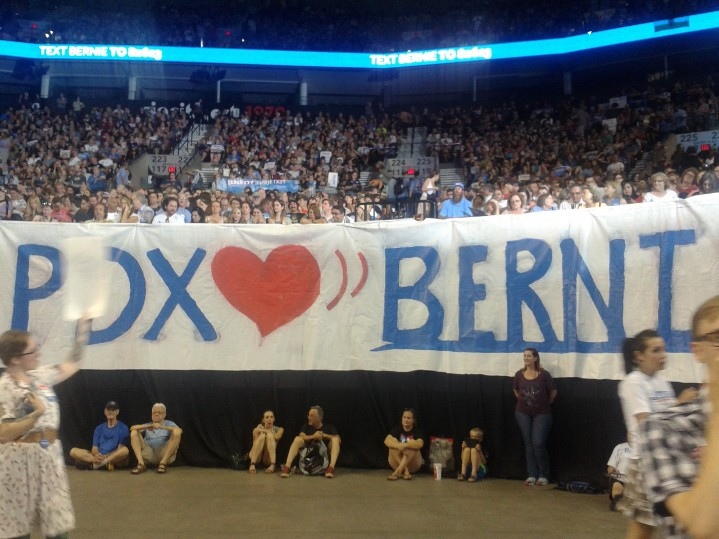 Bernie Sanders Portland rally - PDX <3 Bernie