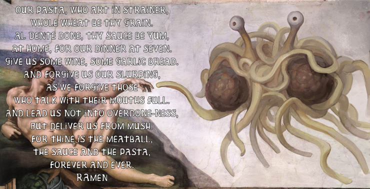 Flying Spaghetti Monster prayer | The Lonely Tribalist