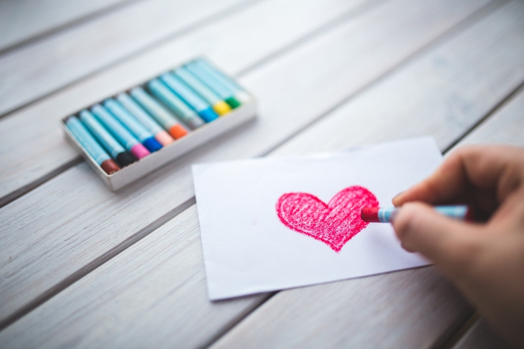 Crayon Heart Love Hand Drawing Stock Photo | The Lonely Tribalist