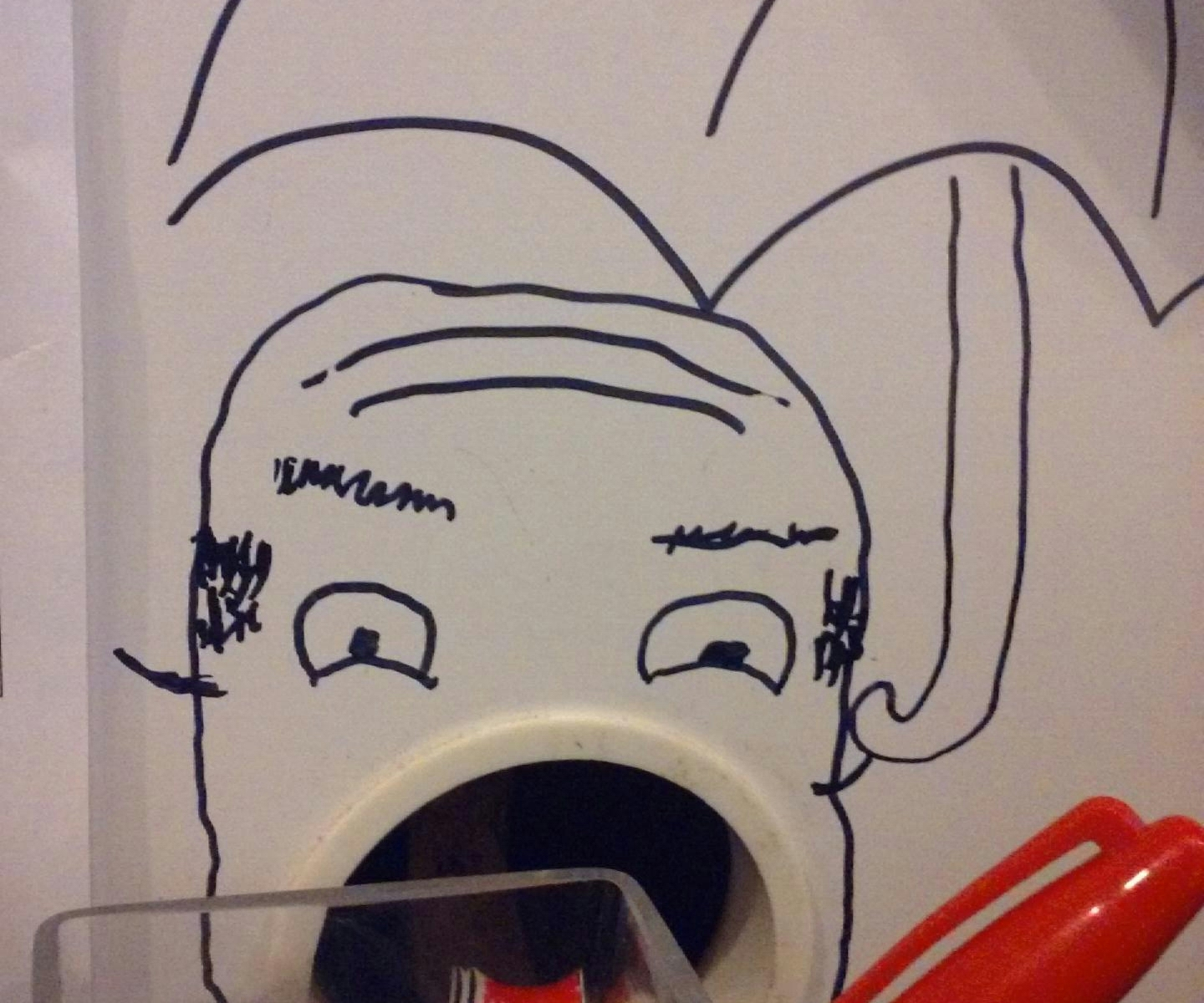 weird open mouth bald guy office wall graffiti art | The Lonely Tribalist