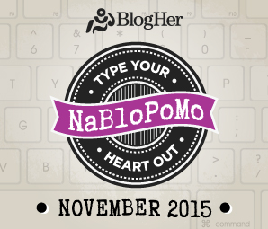 NaBloPoMo BlogHer Logo Badge | The Lonely Tribalist