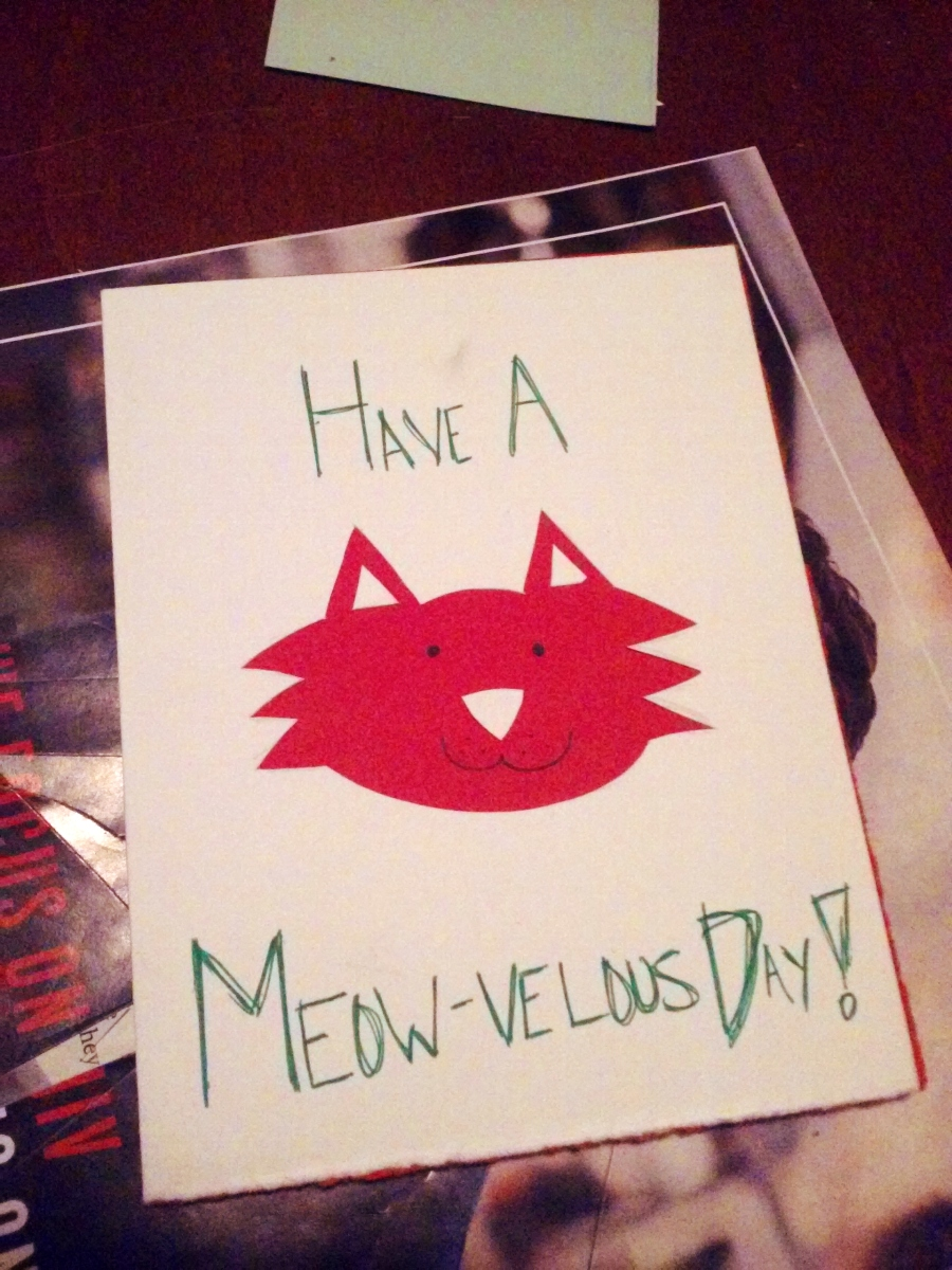 have a meowvelous day cat greeting card | the lonely tribalist
