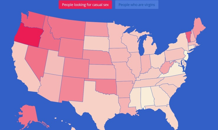 OKCupid people looking for casual sex united states ranking 2015 | The Loney Tribalist