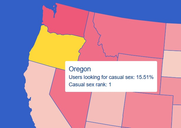 Oregon casual sex rank OKCupid | The Lonely Tribalist