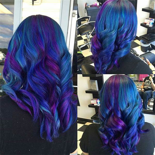 galaxy hair color blue purple | the lonely tribalist