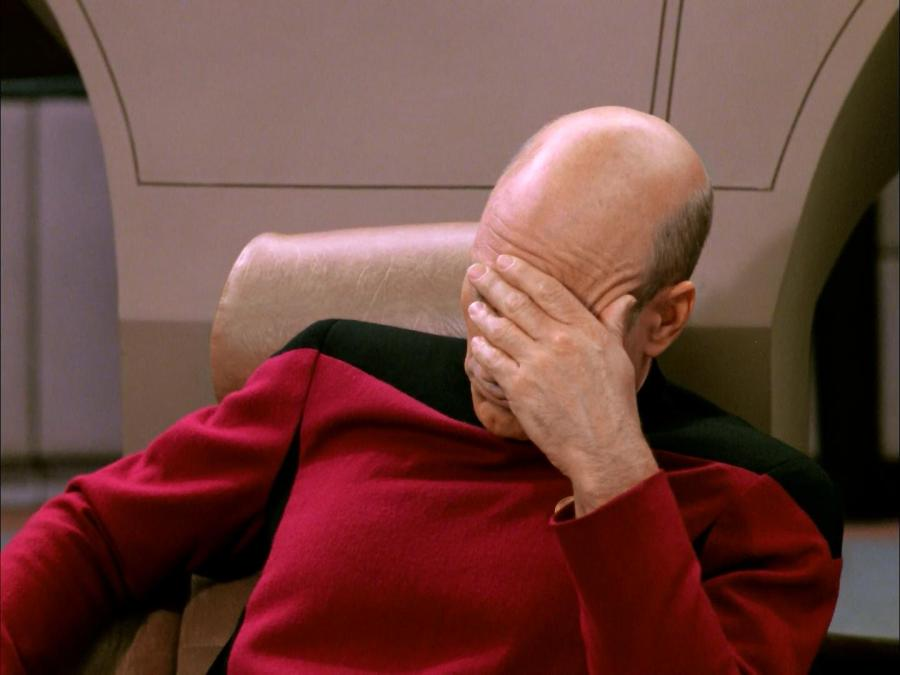 jean luc picard star trek facepalm | the lonely tribalist