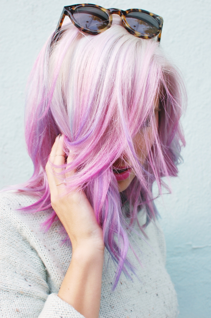 pink pastel hair color dye highlights | the lonely tribalist