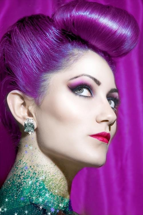 purple retro mermaid hair | the lonely tribalist