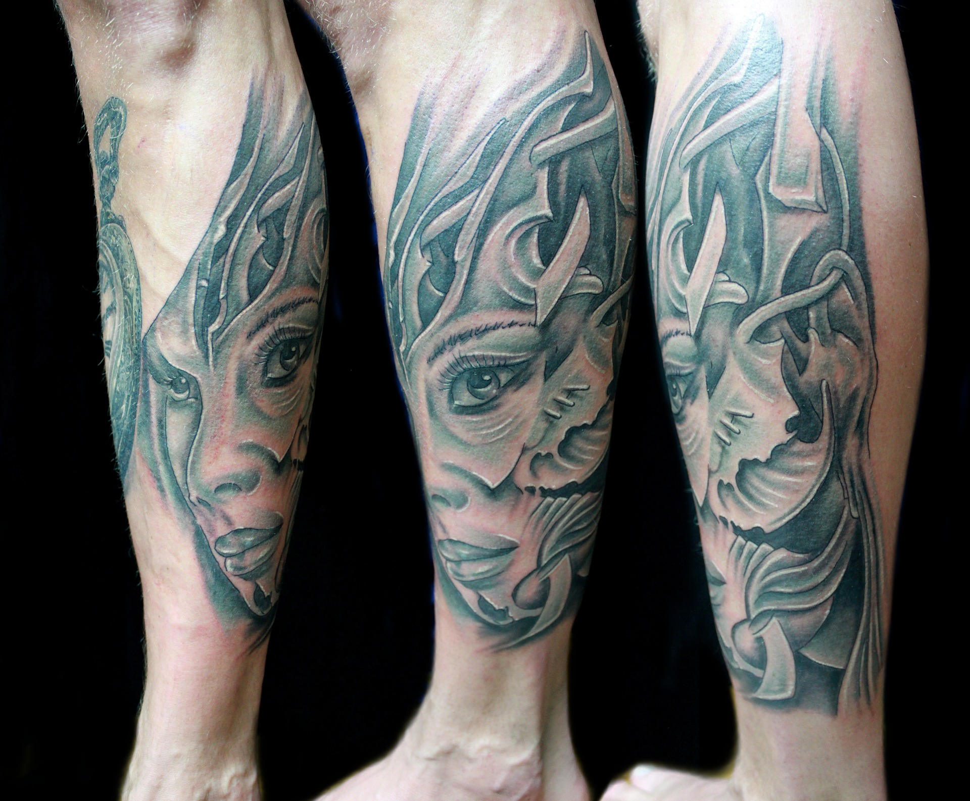 girl fantasy black and white tattoo   the lonely tribalist