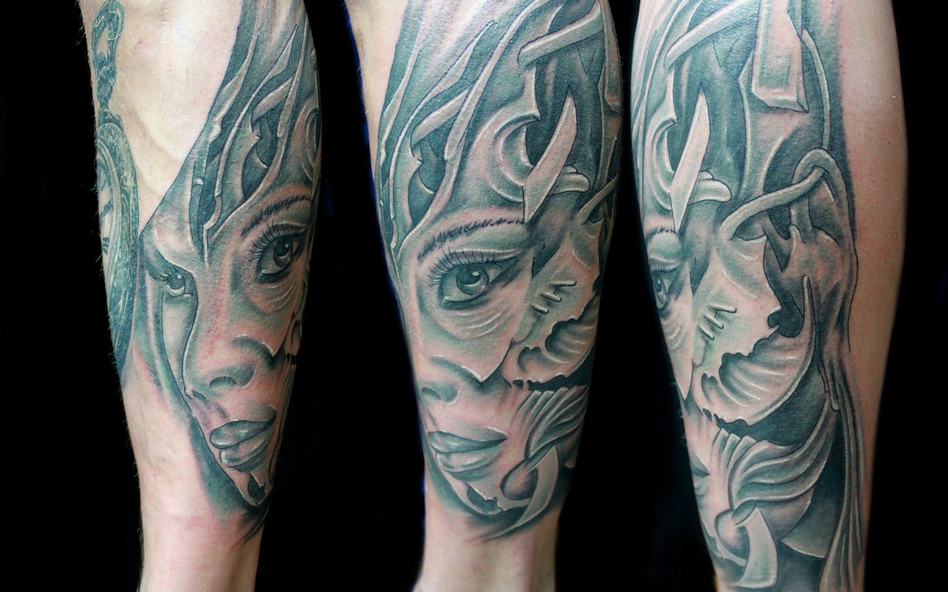 girl fantasy black and white tattoo | the lonely tribalist