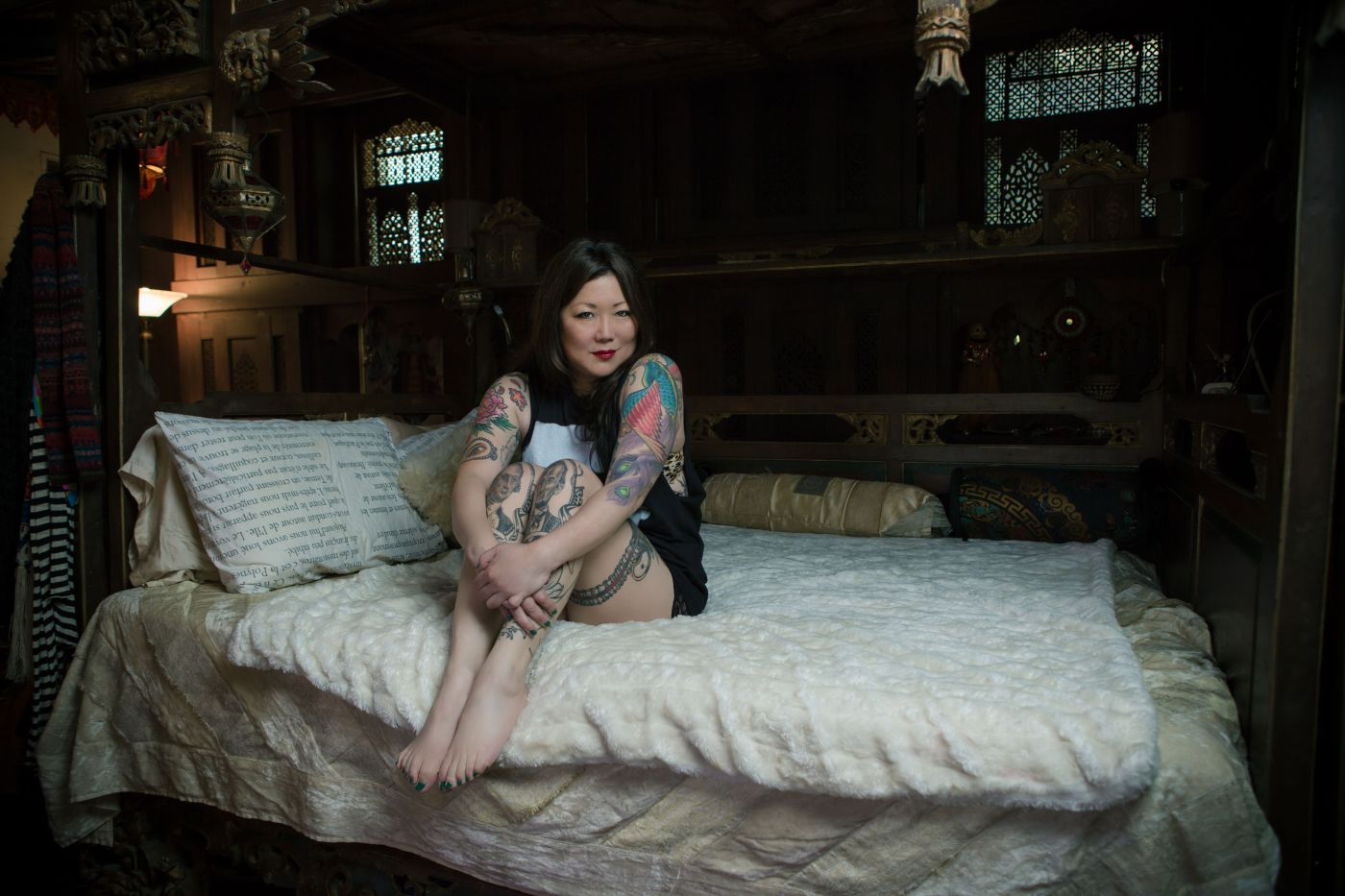 margaret cho tattoo photo shoot   the lonely tribalist