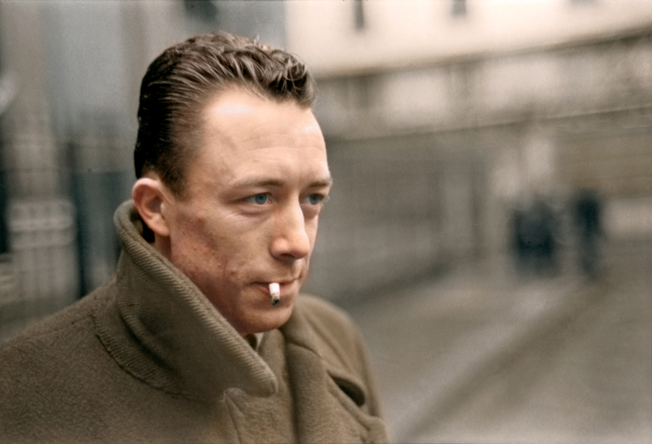 albert camus reddit colorized | the lonely tribalist